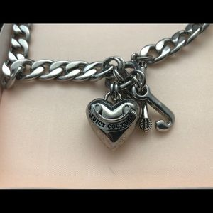 Juicy Couture Banner Heart Necklace original case
